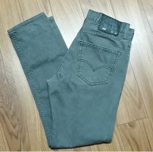 Levi's 508 gray slim straight leg jeans